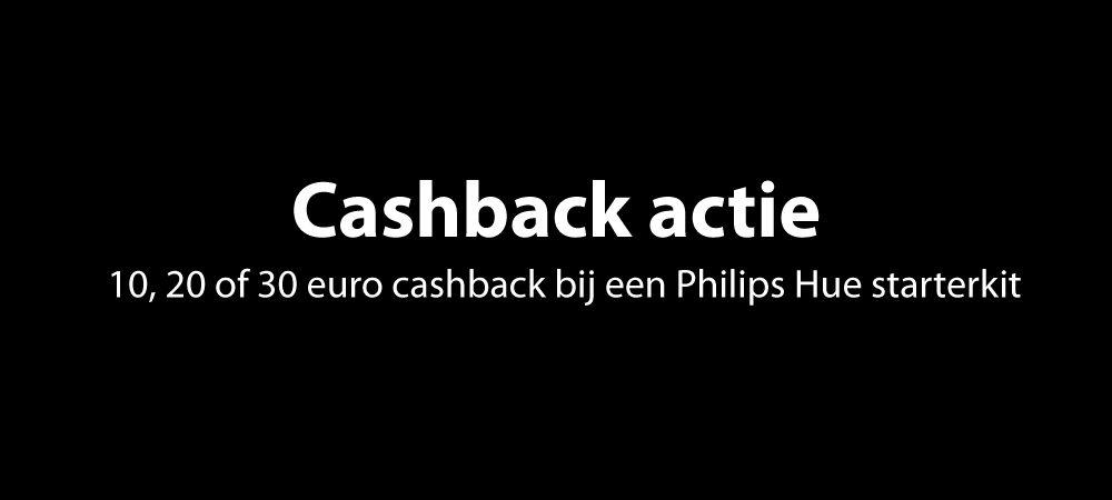 philips hue starterkit cashback actie