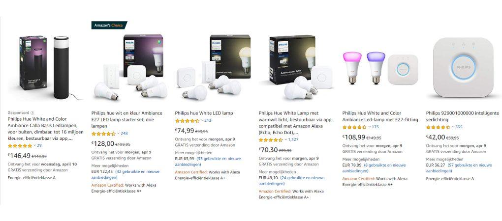 philips hue deals bij amazon.de