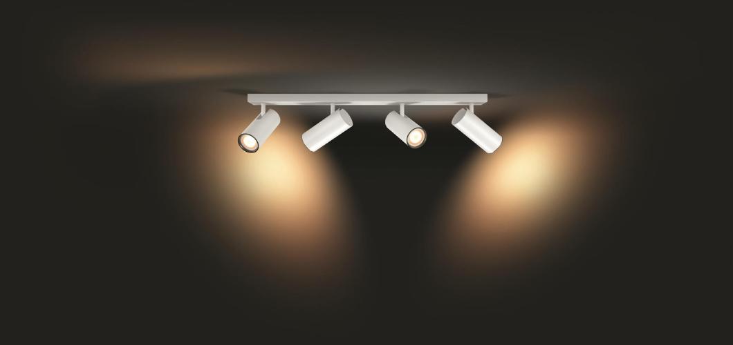 plafondlamp met 1,2,3 of 4 spotjes